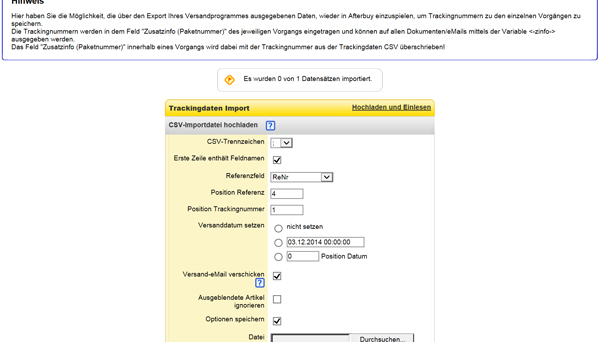 DPD delisprint 6 Afterbuy Trackingdaten Converter
